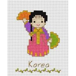 สินค้างานฝีมือ-ครอสติสลายเด็กนานาชาติ - เกาหลี