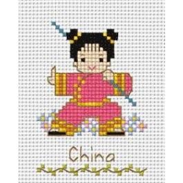 สินค้างานฝีมือ-ครอสติสลายเด็กนานาชาติ - จีน
