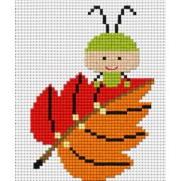 สินค้างานฝีมือ-ครอสติสลายแมลงกินใบไม้