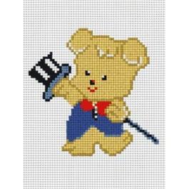 สินค้างานฝีมือ-ครอสติสลายหมีเล่นกล