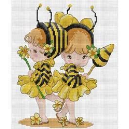 สินค้างานฝีมือ-ครอสติสลายแฟนซีผึ้งน้อย