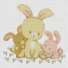 สินค้างานฝีมือ-ครอสติสลายครอบครัวกระต่าย