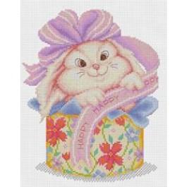 สินค้างานฝีมือ-ครอสติสลายกระต่ายของขวัญ