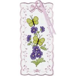 สินค้างานฝีมือ-ครอสติสลายบุ๊คมาร์คดอกไม้กับผีเสื้อ