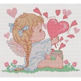 สินค้างานฝีมือ-ครอสติสลายBubble Heart