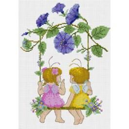สินค้างานฝีมือ-ครอสติสลายชิงช้าชาลี (Flower Swing)