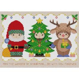 สินค้างานฝีมือ-ครอสติสลายคริสต์มาส - สามเด็กน้อย