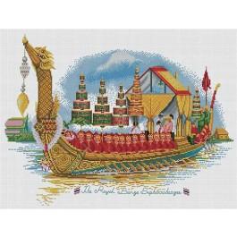 สินค้างานฝีมือ-ครอสติสลายเรือพระที่นั่งสุพรรณหงส์