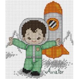 สินค้างานฝีมือ-ครอสติสลายความไฝ่ฝันของผม (นักบินอวกาศ)