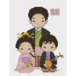 สินค้างานฝีมือ-ครอสติสลายหนูรักพ่อจ๋าชุดญี่ปุ่น