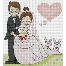 สินค้างานฝีมือ-ครอสติสลายน้องนานา แต่งงาน