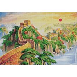 สินค้างานฝีมือ-ครอสติสลายกำแพงเมืองจีน