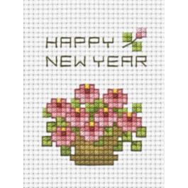 สินค้างานฝีมือ-ครอสติสลายถุงกระจุกกระจิก - กระเช้าดอกไม้สีชมพู