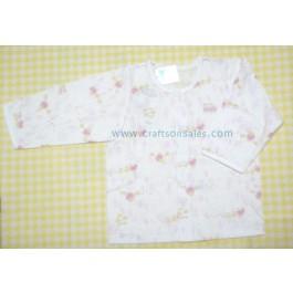 เสื้อแขนยาวติดกระดุมแป๊ะด้านหน้า สำหรับเด็ก 12 เดือน ลายแม่ไก่และลูกเจี๊ยบ ยี่ห้อ Absorba