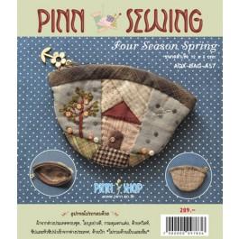 สินค้างานฝีมือ-ชุดคิทควิลท์ งานเย็บกระเป๋าใส่เหรียญ Four Seasons Spring Quilt
