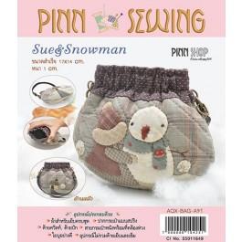 สินค้างานฝีมือ-ชุดคิทควิลท์ งานเย็บกระเป๋าถือ Sue & Snowman Quilt