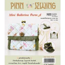 สินค้างานฝีมือ-ชุดคิทควิลท์ งานเย็บกระเป๋าบิดคลิ๊บ Mini Ballerina Purse A (Green) Quilt