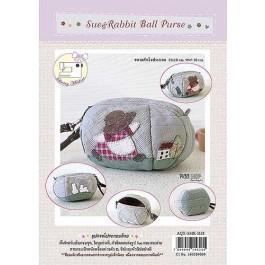 สินค้างานฝีมือ-ชุดคิทควิลท์ ชุดคิทควิลท์ งานเย็บกระเป๋า Sue & Rabbit Ball Purse