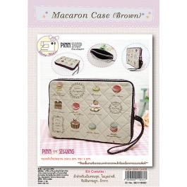 สินค้างานฝีมือ-ชุดคิทงานควิลท์ ชุดคิทควิลท์ งานเย็บกระเป๋าใส่เทปเล็ต Magaron Case(Brown)