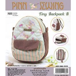 สินค้างานฝีมือ-ชุดคิทงานควิลท์ ชุดคิทควิลท์ งานเย็บกระเป๋า Tiny Backpack (Blue)