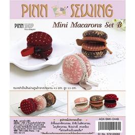 สินค้างานฝีมือ-ชุดคิทงานควิลท์ ชุดคิทควิลท์ งานเย็บกระเป๋าจิ๋ว Mini macarons Set B