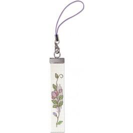สินค้างานฝีมือ-ครอสติสลายครอสติชสำหรับสายมือถือ ดอกไม้กิ๊บเก๋ 2 (แพ็คคู่สายมือถือ)