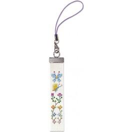สินค้างานฝีมือ-ครอสติสลายครอสติชสำหรับสายมือถือ ดอกไม้กิ๊บเก๋ 5 (แพ็คคู่สายมือถือ)