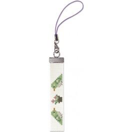 สินค้างานฝีมือ-ครอสติสลายครอสติชสำหรับสายมือถือ นกน้อยกับดอกไม้ (แพ็คคู่สายมือถือ)