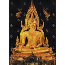สินค้างานฝีมือ-ครอสติสลายพระพุทธชินราช (สี)