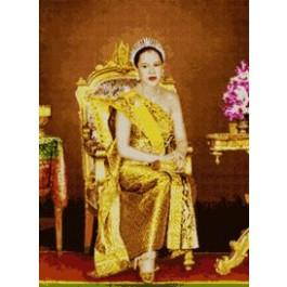 สินค้างานฝีมือ-ครอสติสลายพระราชินีทรงบัลลังก์