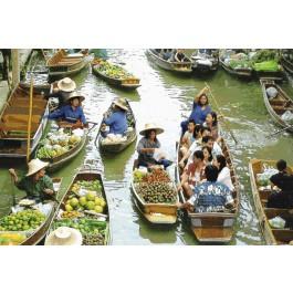 สินค้างานฝีมือ-ครอสติสลายตลาดน้ำ