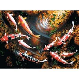 สินค้างานฝีมือ-ครอสติสลายปลาคาร์ฟ