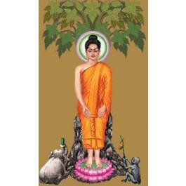 สินค้างานฝีมือ-ครอสติสลายพระพุทธรูปปางป่าเลไลยก์ (วันพุธกลางคืน)