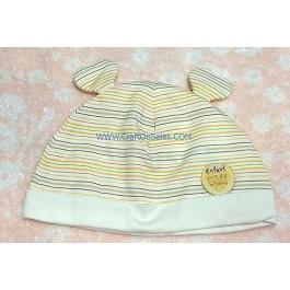 หมวกเด็กอ่อนแบบสวม ลายเส้น ยี่ห้อ Enfant Green Product เบอร์ 01 รอบศรีษะ 44 ซม. เนื้อผ้านุ่ม 70% bamboo 30% cotton