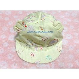หมวกแก็บเด็กแบบสวม ลายสัตว์ สีเขียว ยี่ห้อ Enfant Green Product เบอร์ 01 รอบศรีษะ 44 ซม. เนื้อผ้านุ่ม 70% bamboo 30% cotton