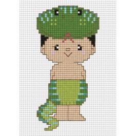 สินค้างานฝีมือ-ครอสติสลายปีมะเส็งงูเล็ก (จูเนียร์)