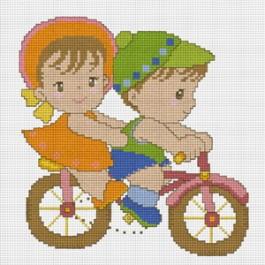 สินค้างานฝีมือ-ครอสติสลายจักรยานกุ๊กกิ๊ก