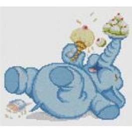 สินค้างานฝีมือ-ครอสติสลายช้างน้อยเริงร่า