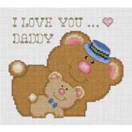 สินค้างานฝีมือ-ครอสติสลายฉันรักพ่อหมี