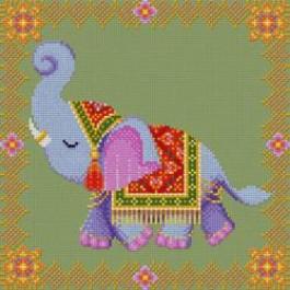 สินค้างานฝีมือ-ครอสติสลายElegance Elephant