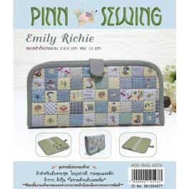 สินค้างานฝีมือ-ชุดคิทควิลท์ งานเย็บกระเป๋าใส่ธนบัตร Emily Richie (Blue) Quilt