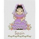 สินค้างานฝีมือ-ครอสติสลายเด็กนานาชาติ - สเปน