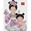 สินค้างานฝีมือ-ครอสติสลายลูกรักกับแม่จ๋าชุดจีน