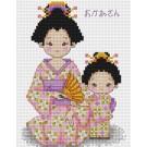 สินค้างานฝีมือ-ครอสติสลายลูกรักกับแม่จ๋าชุดญี่ปุ่น