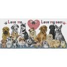 สินค้างานฝีมือ-ครอสติสลายLove me Love my dogs