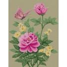 สินค้างานฝีมือ-ครอสติสลายผีเสื้อและดอกไม้