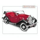 สินค้างานฝีมือ-ครอสติสลายรถโบราณ Morris 1938