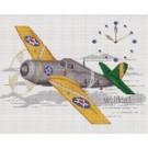 สินค้างานฝีมือ-ครอสติสลายเครื่องบินโบราณ - Wildcat