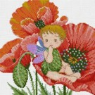 สินค้างานฝีมือ-ครอสติสลายเจ้าดอกป๊อปปี้ (Little Poppy)