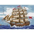 สินค้างานฝีมือ-ครอสติสลายเรือสำเภาจีน